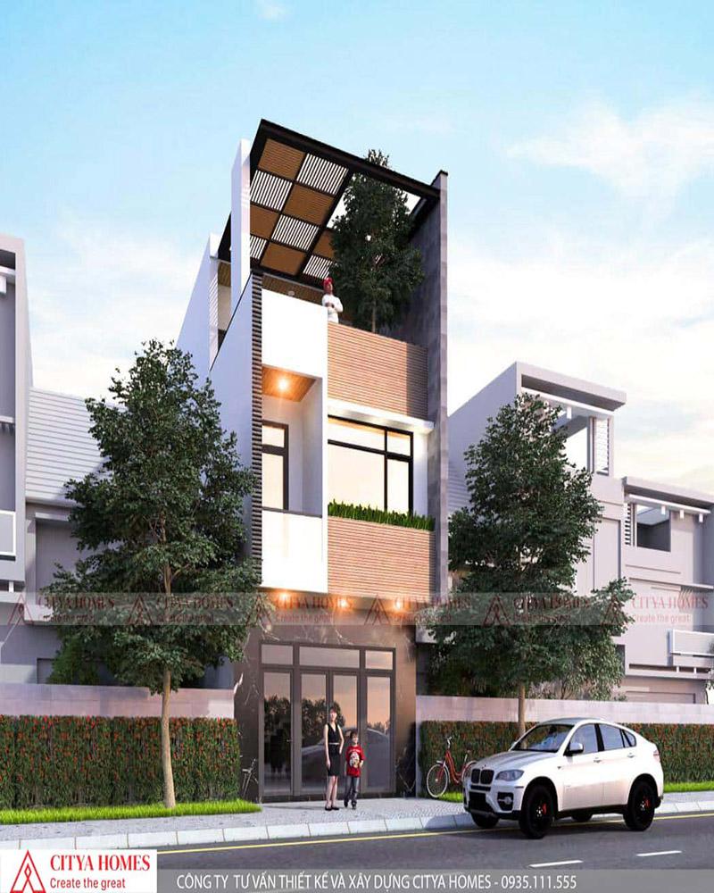 Mẫu nhà phố 3 tầng mặt tiền 5m