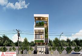 Mẫu nhà phố 3 tầng đẹp hiện đại
