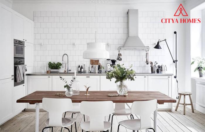 Mẫu Nội Thất Phòng Bếp Phong Cách Scandinavian