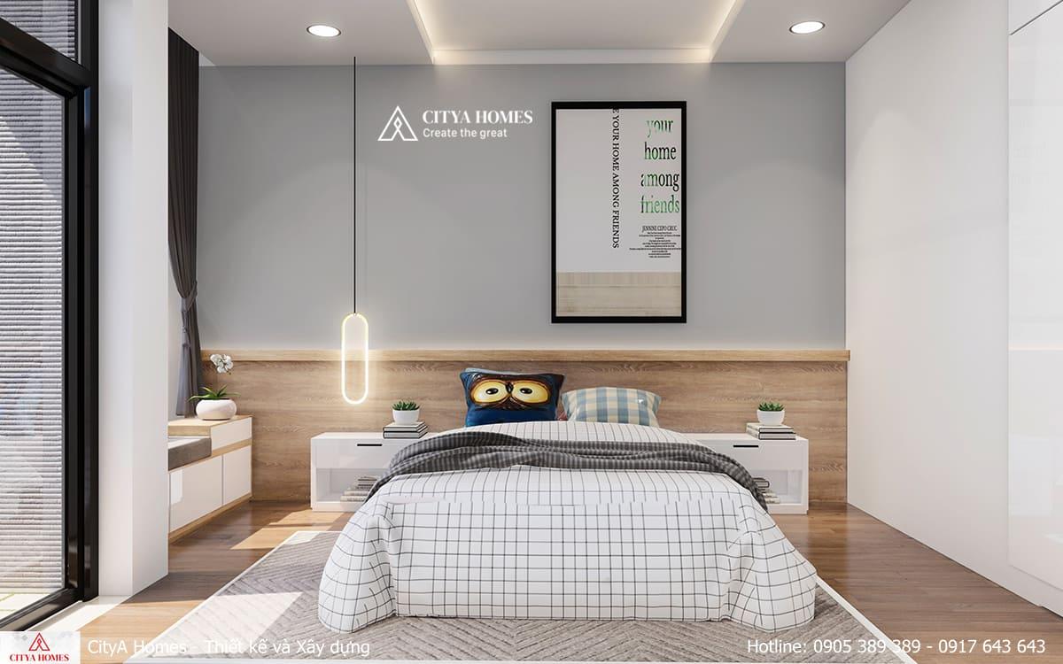 Bố trí cửa sổ lớn ở phòng ngủ nhằm tăng độ sáng tự nhiên trong phòng
