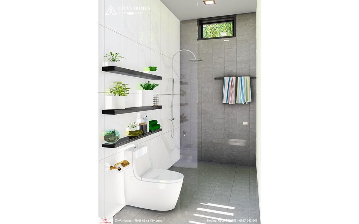 Bố trí nhà vệ sinh đẹp mê mẩn