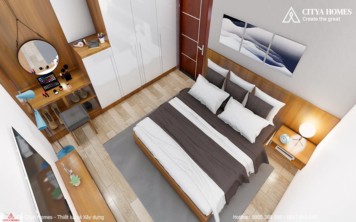 Bố trí phòng ngủ diện tích hẹp