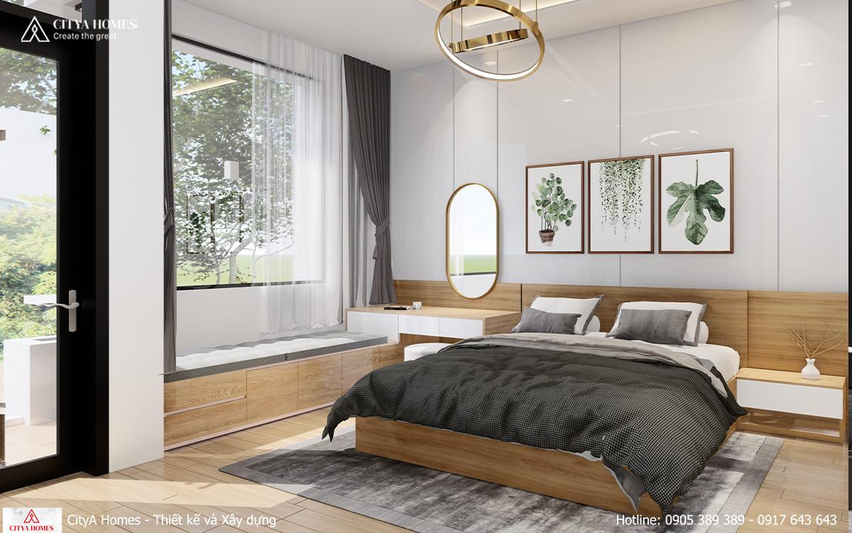 Các góc nội thất trong phòng đều được thiết kế theo lối bo tròn,đem lại cảm giác mềm mại.