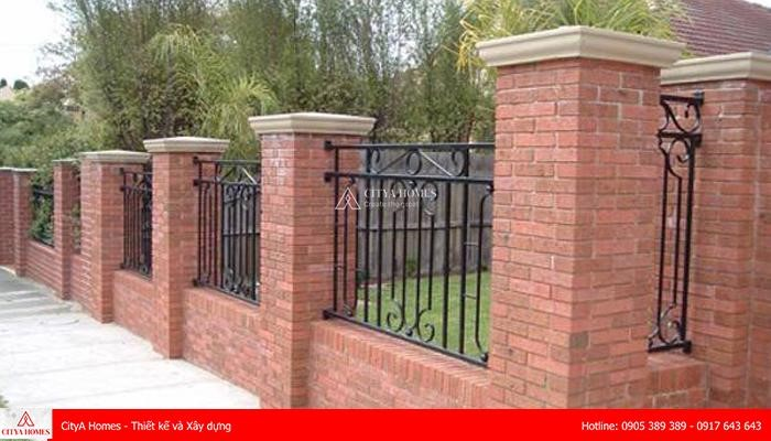 Mẫu hàng rào xây gạch đẹp - 2