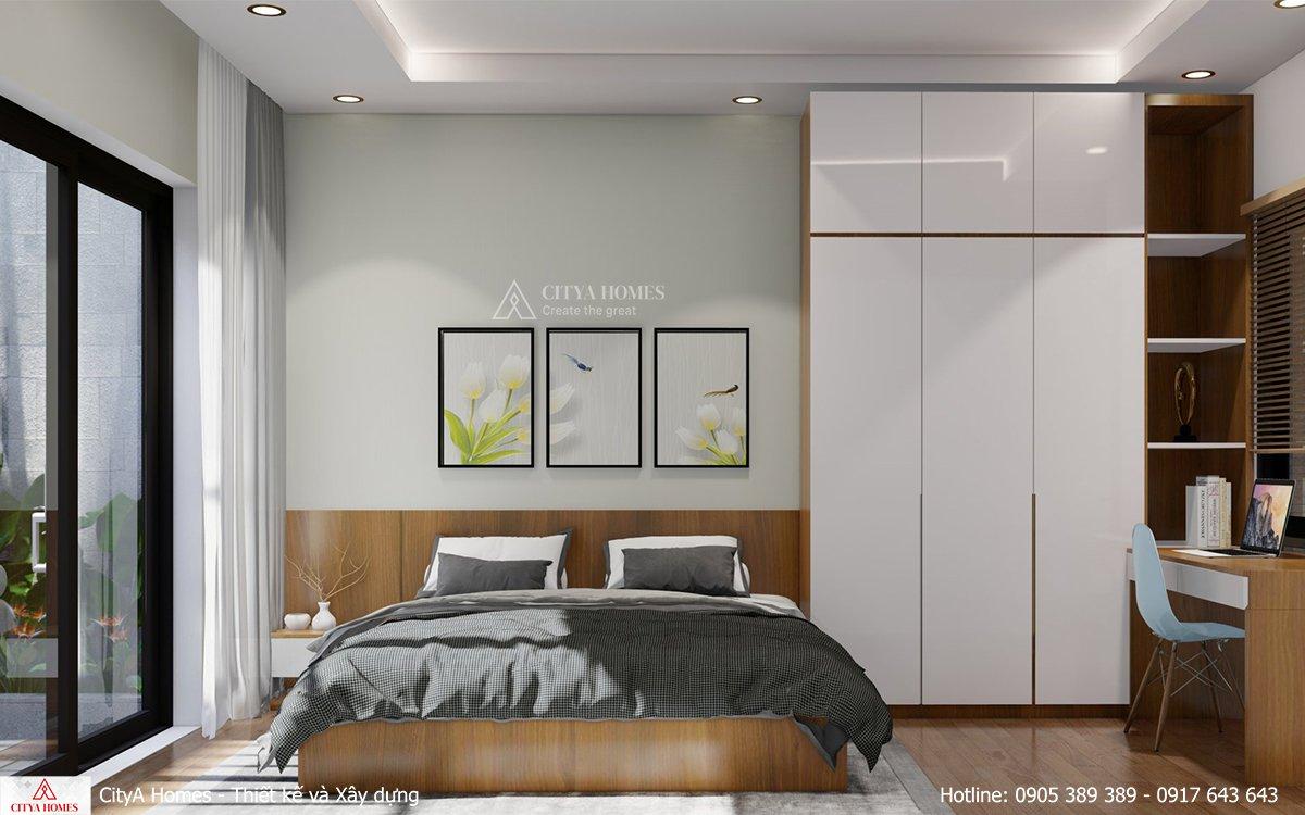 Cửa kính lớn giúp tăng độ sáng và hiệu quả thông gió trong phòng