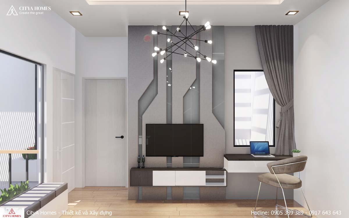 Cửa kính trong phòng ngủ master giúp ánh sáng được đưa vào phòng nhiều hơn