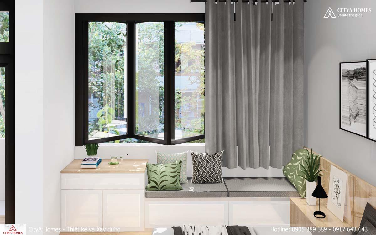 Cửa sổ ban công phòng ngủ