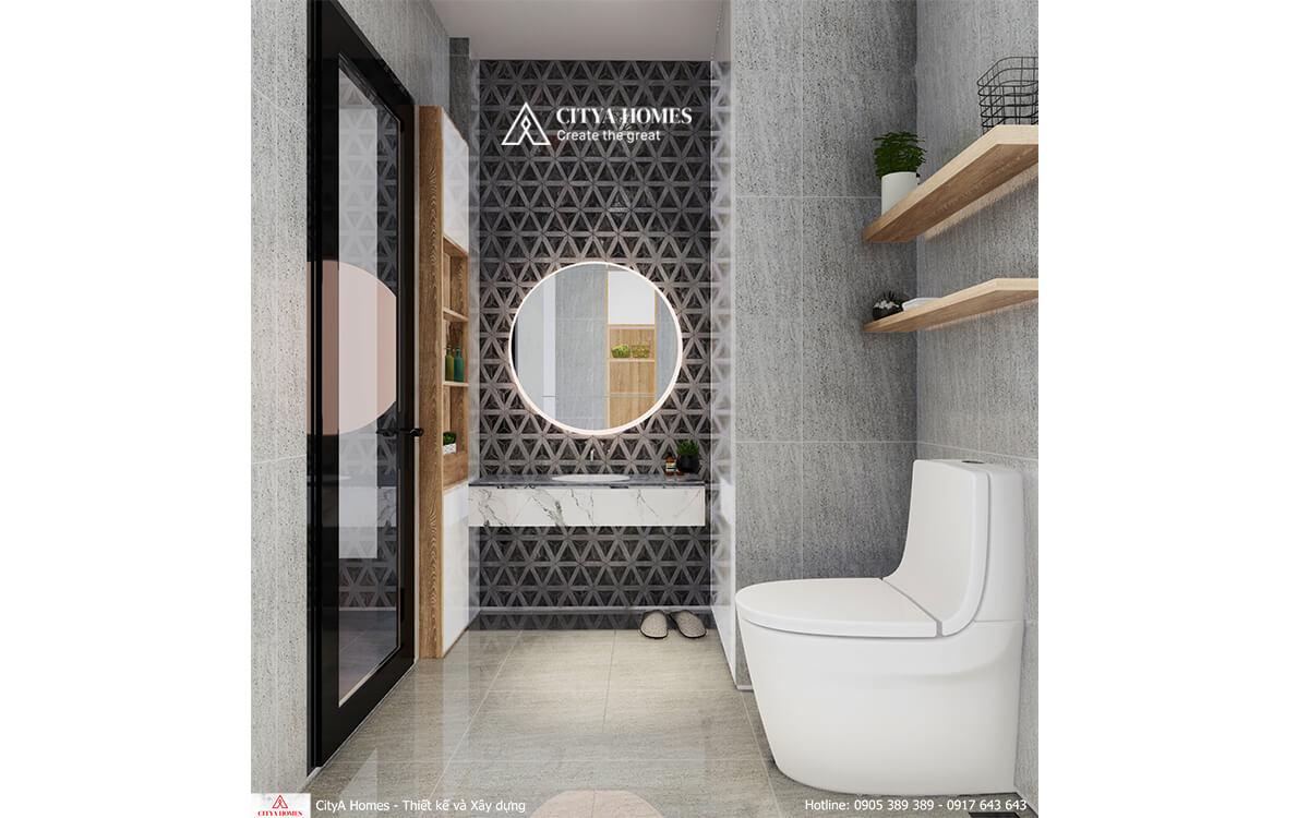 Đá giả gạch bông gió được sử dụng nhằm tạo nét đặc biệt cho phòng tắm
