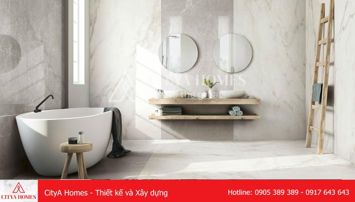 Màu sắc gạch ốp nhà tắm trắng sáng