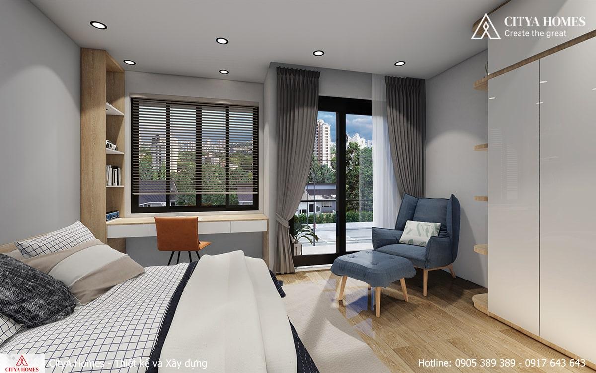 Góc đọc sách trong phòng ngủ với thiết kế sáng tạo tận dụng được không gian