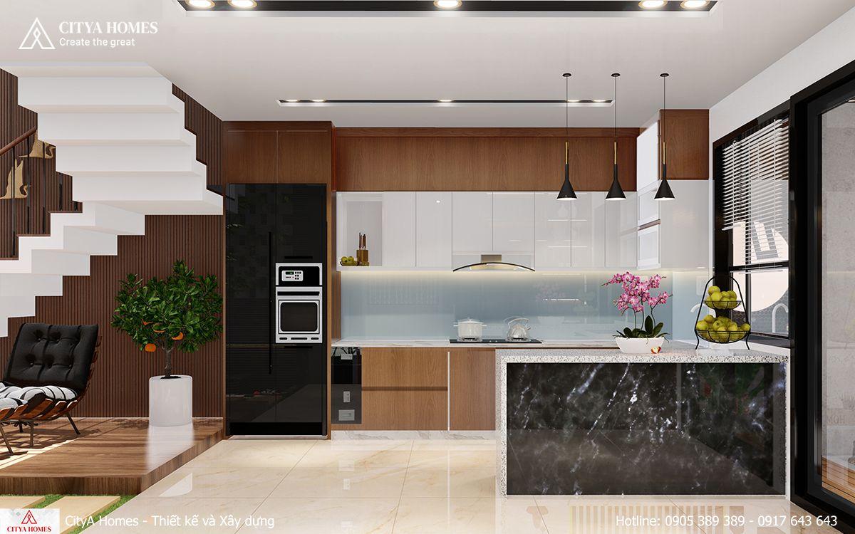 Không gian bếp sang trọng, tiện nghi
