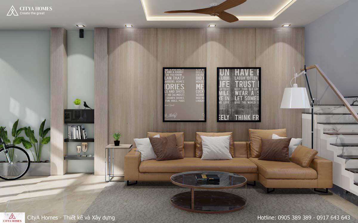 Không gian phòng khách sáng sáng tạo