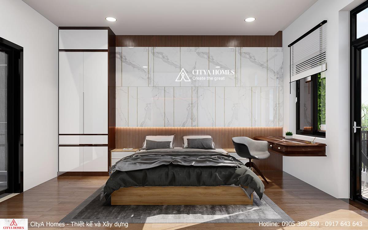 Không gian phòng ngủ master thoáng đãng, rộng rãi