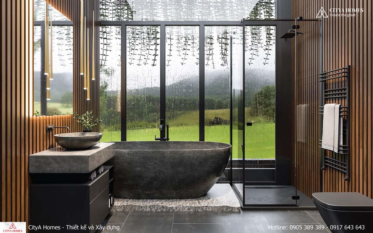 Không gian phòng tắm được thiết kế như resort 5 sao
