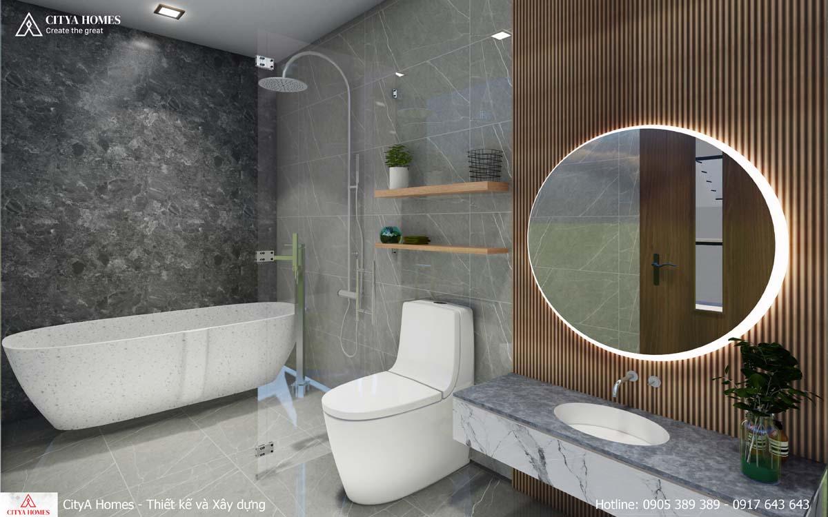 Không gian phòng tắm sang trọng, rộng rãi