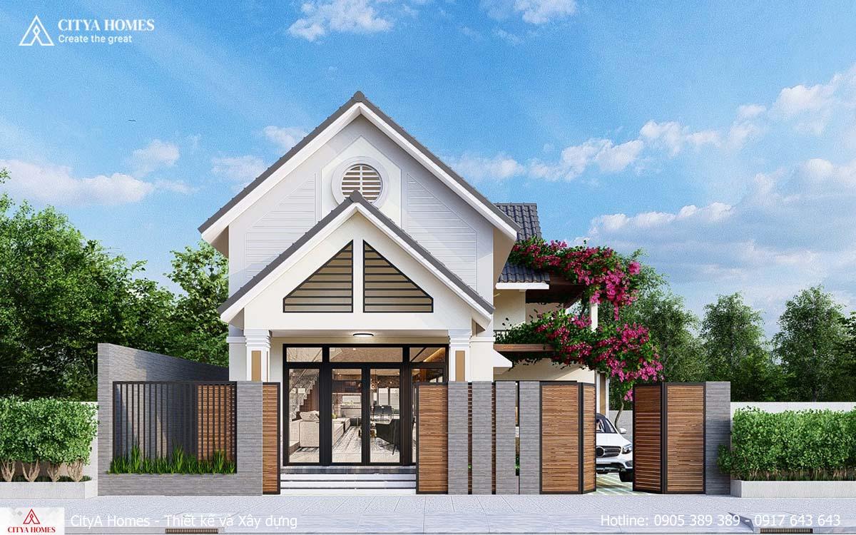 Mặt Tiền Nhà Mái Thái Ngang 10m