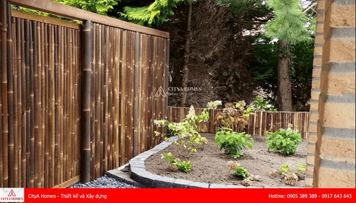 Mẫu cổng rào bằng tre độc đáo