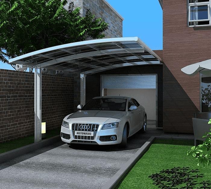 Mẫu mái vòm đẹp cho nhà để xe