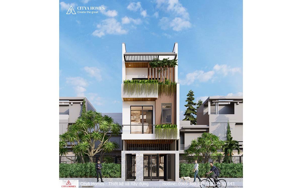 Mẫu nhà phố thiết kế đẹp, hiện đại 2021