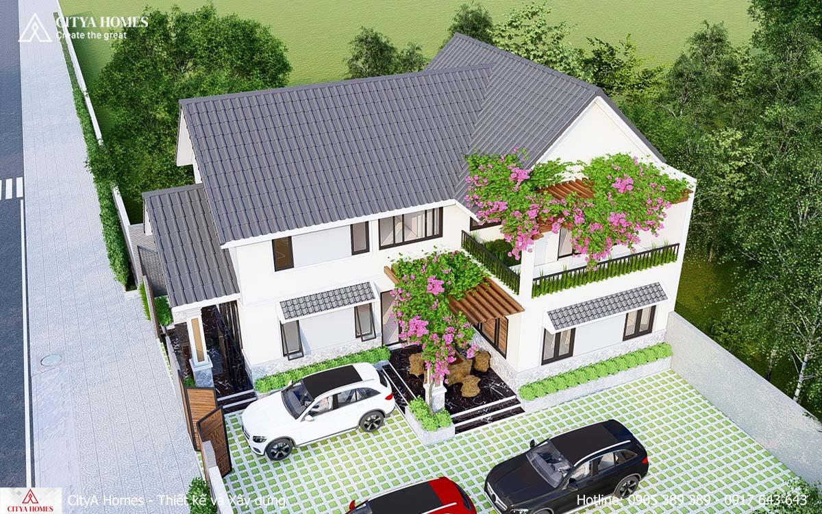 Mẫu nhà phố mái thái 10x17 được yêu thích nhất
