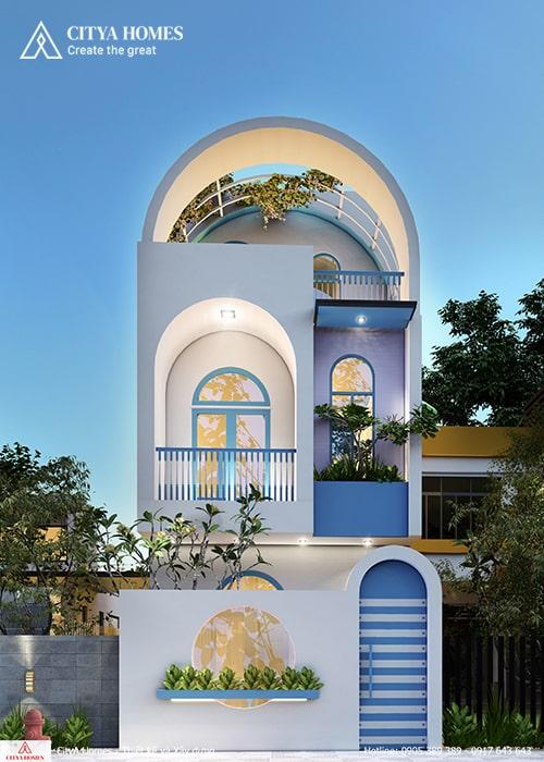 Mẫu nhà thiết kể theo phong cách Santorini