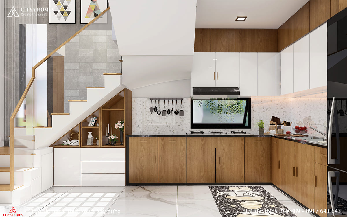 Mẫu nội thất tủ bếp đẹp, hiện đại