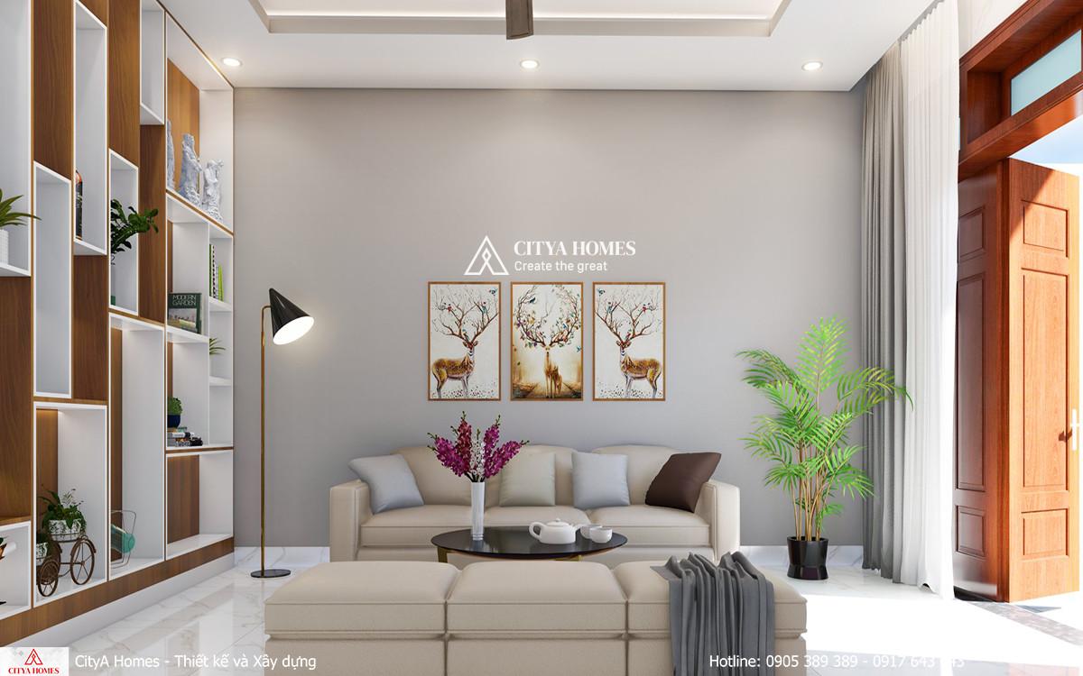 Mẫu phòng khách trang trí đơn giản