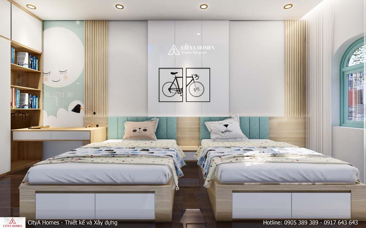 Mẫu phòng ngủ dễ thương cho các bé