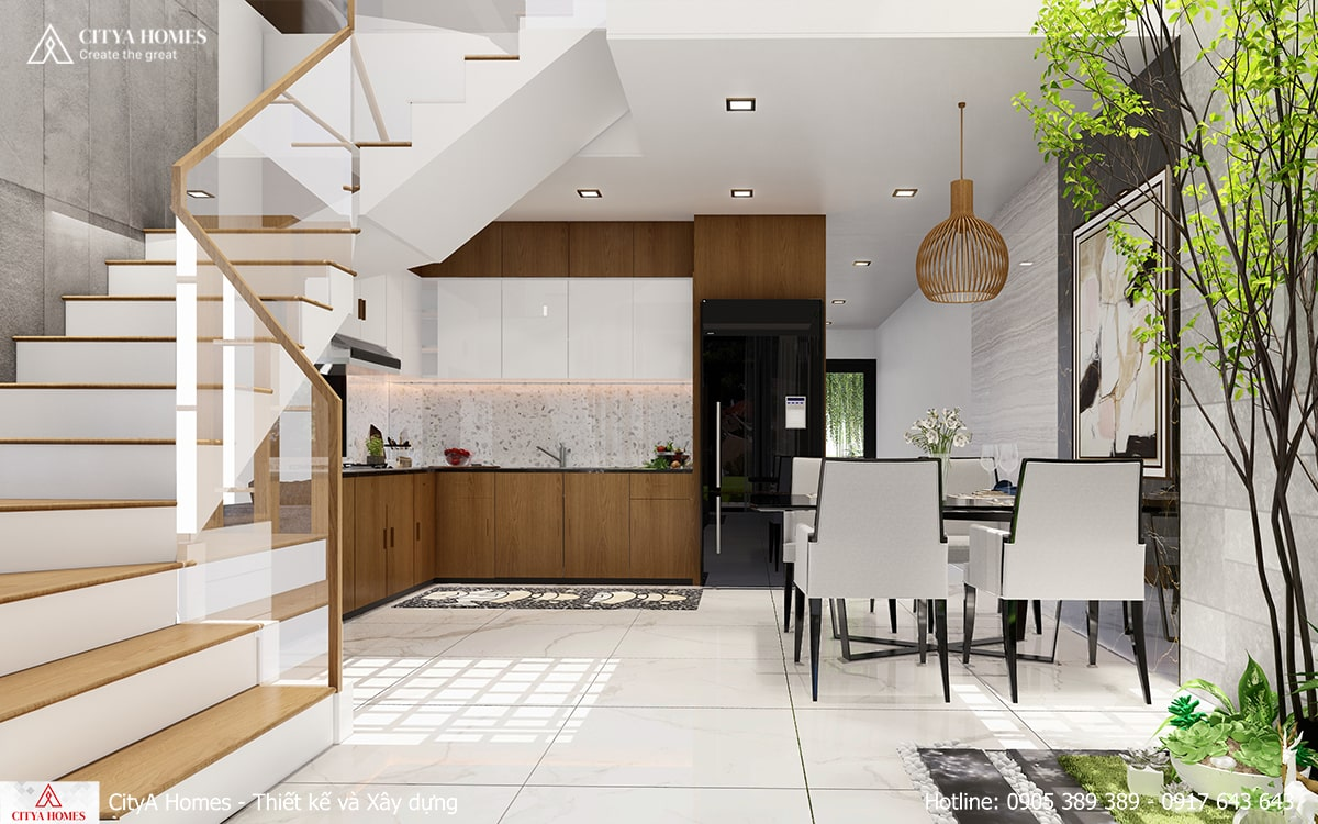 Mẫu thiết kế phòng bếp lấy thoáng, lấy sáng