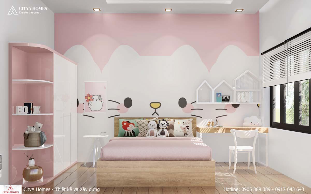 Mẫu trang trí phòng ngủ cho bé gái