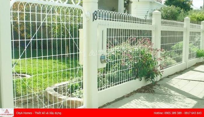 Mẫu tường rào gam trắng tinh tế - 2