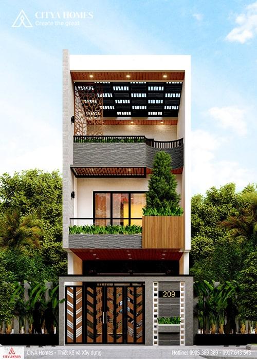 Mẫu thiết kế nhà đẹp 2 tầng 1 tum tại Quảng Nam