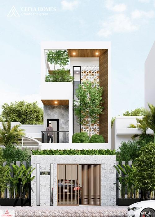 Mẫu thiết kế nhà đẹp 2 tầng tại Đà Nẵng