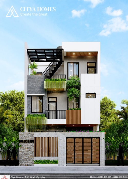 Mẫu thiết kế nhà đẹp 3 tầng ở Đà Nẵng