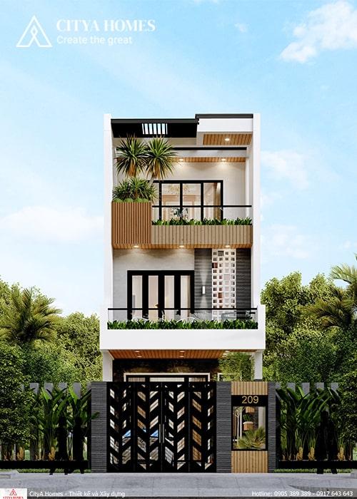 Mẫu thiết kế nhà đẹp 3 tầng ở Quảng Nam