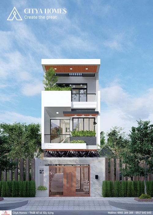 Mẫu thiết nhà đẹp 3 tầng ở Thái Nguyên