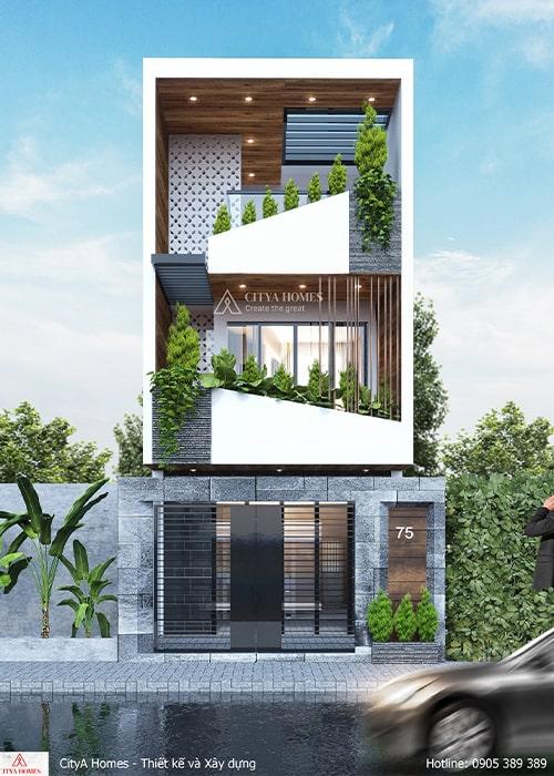 Mẫu thiết kế nhà đẹp 3 tầng tại Quảng Ngãi