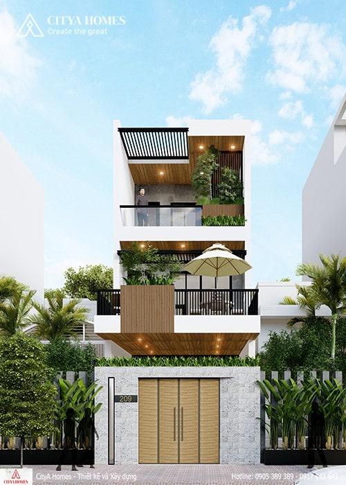 Nhà phố 2,5 tầng hiện đại ở Đà Nẵng