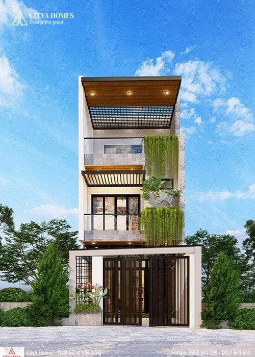 Mẫu thiết kế nhà phố đẹp 2 tầng 1 tum tại Đà Nẵng