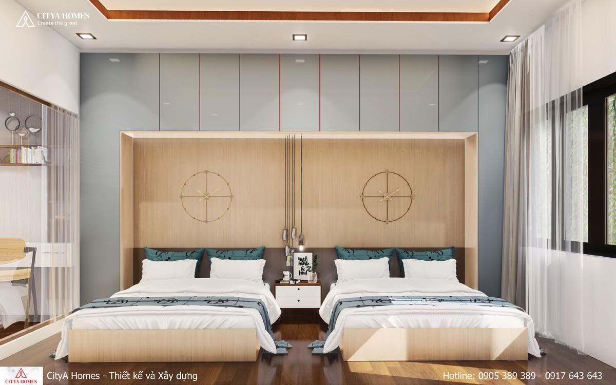 Nội thất phòng ngủ thiết kế giường đôi