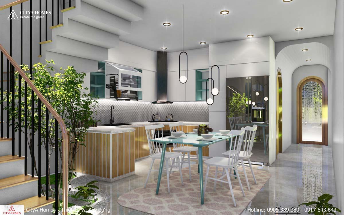 Phòng bếp được trang trí nội thất đẹp mắt