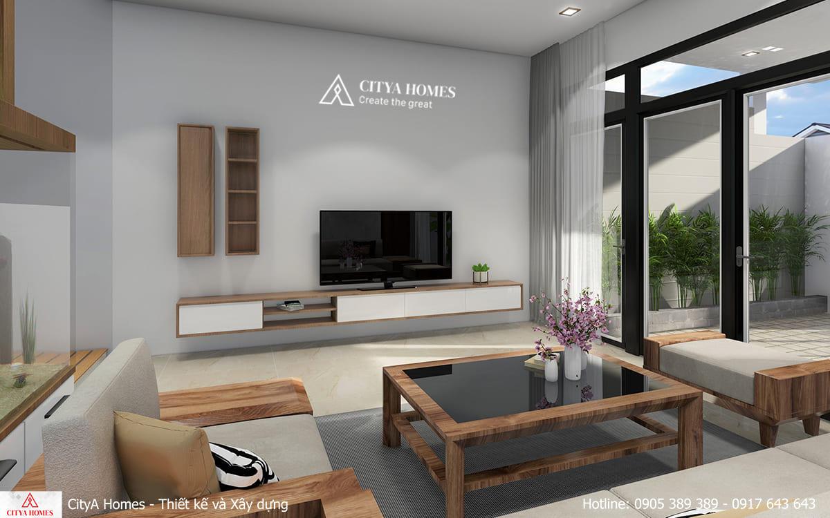 Phòng khách được thiết kế tối giản nhưng vẫn tinh tế