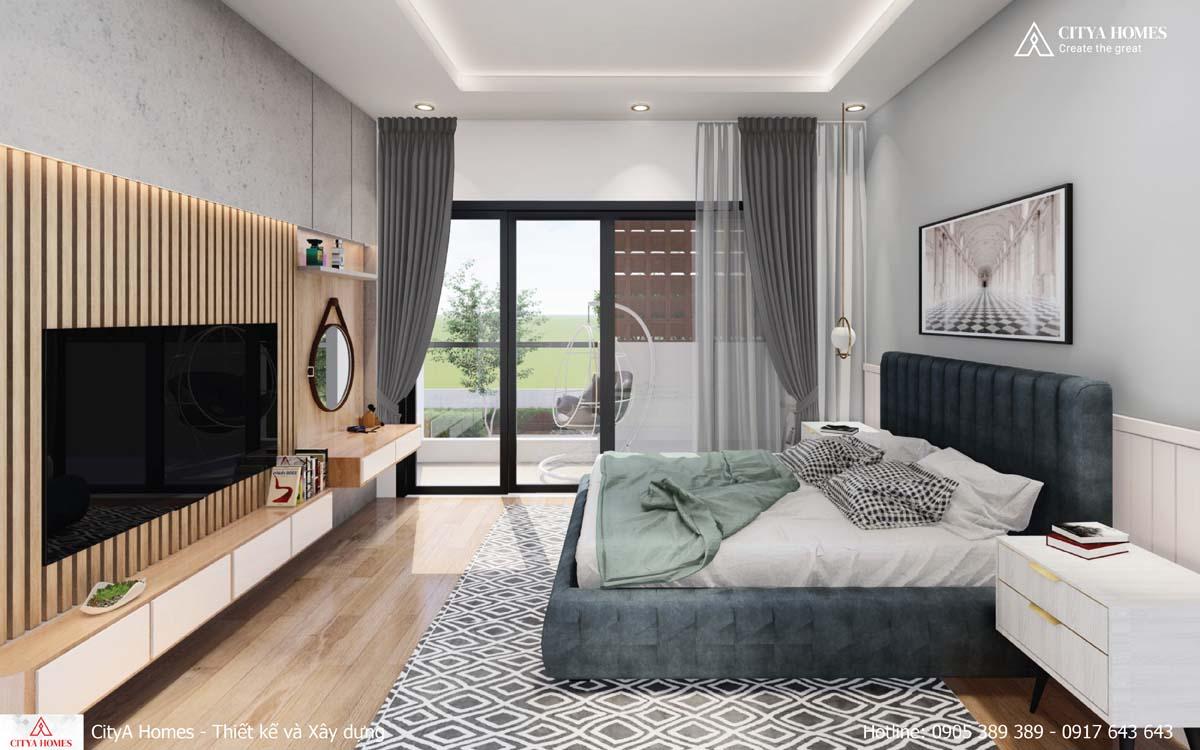 Phòng ngủ có ban công rộng rãi
