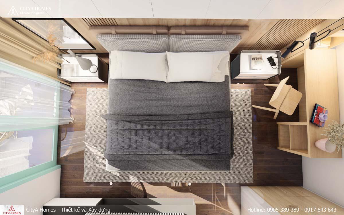 Phòng ngủ kết hợp không gian làm việc
