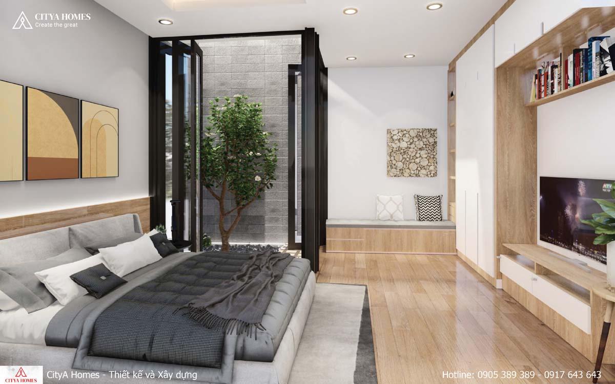 Phòng ngủ kết hợp không gian xanh