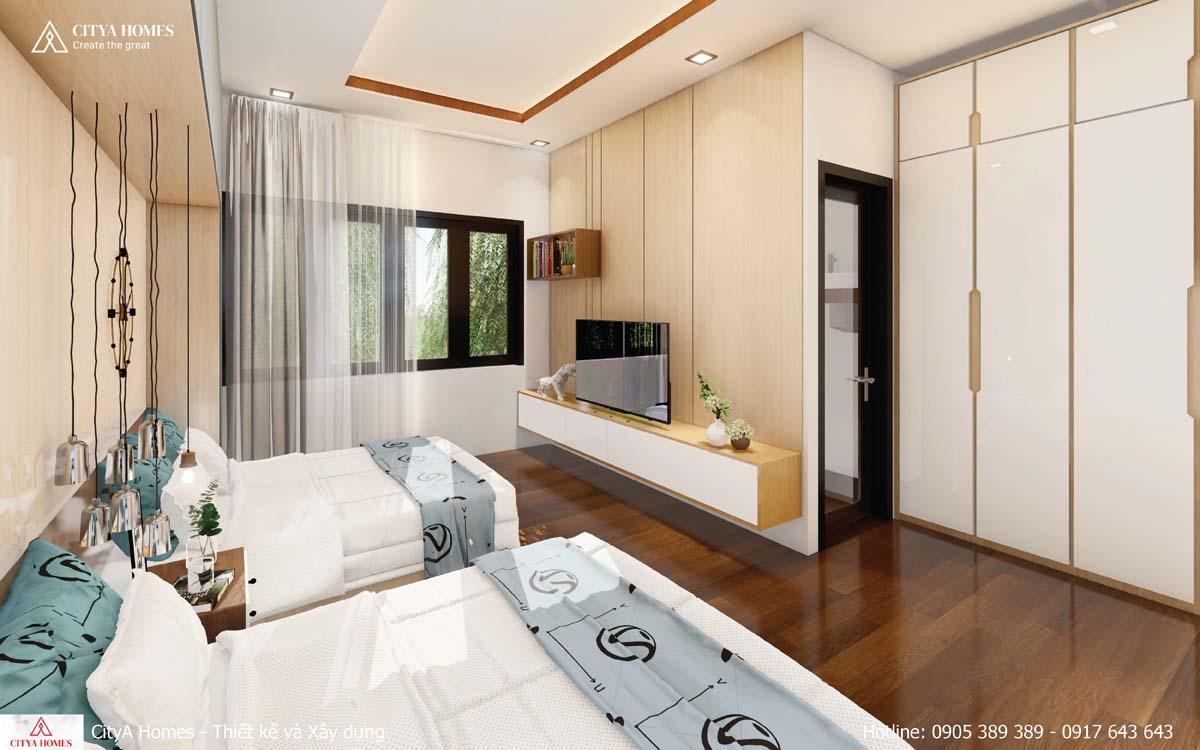 Phòng ngủ lấy sáng từ cửa sổ