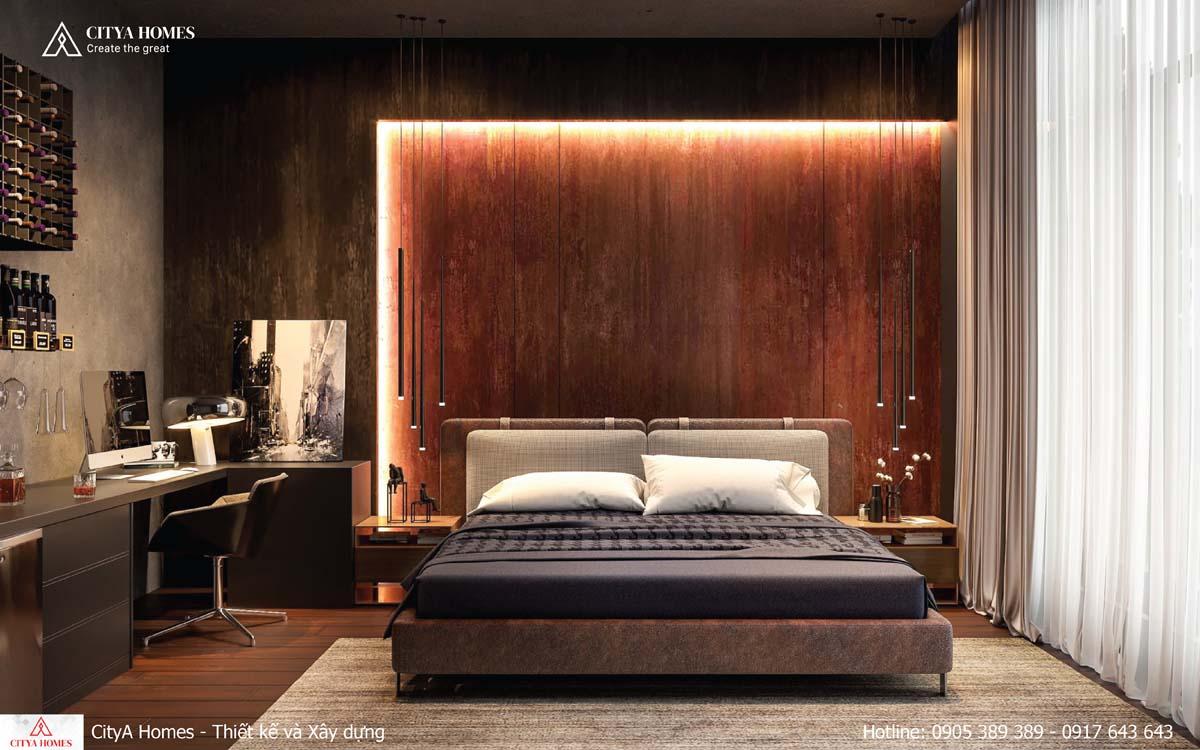 Phòng ngủ mang vẻ huyền bí, khơi gợi ham muốn khám phá