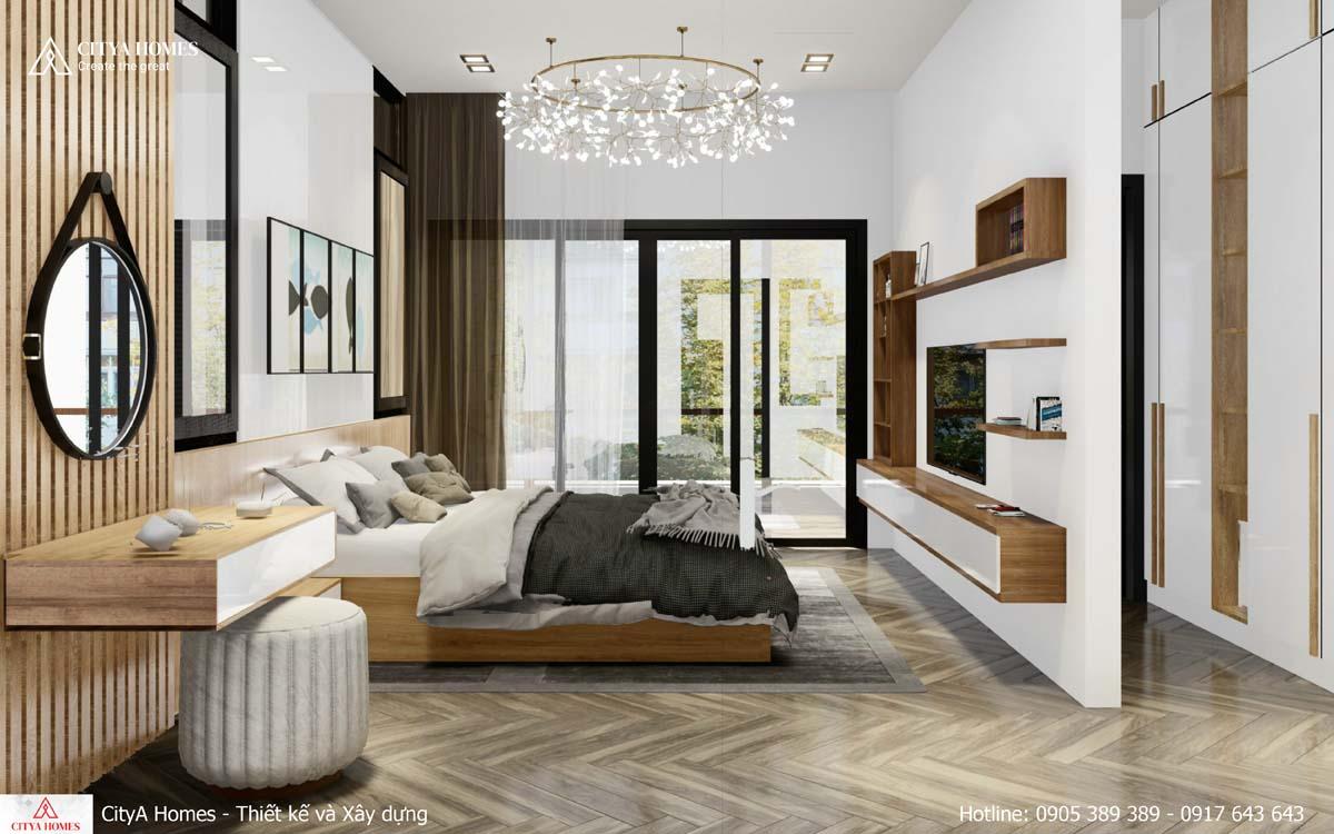 Phòng ngủ master có thiết kế nội thất khác biệt