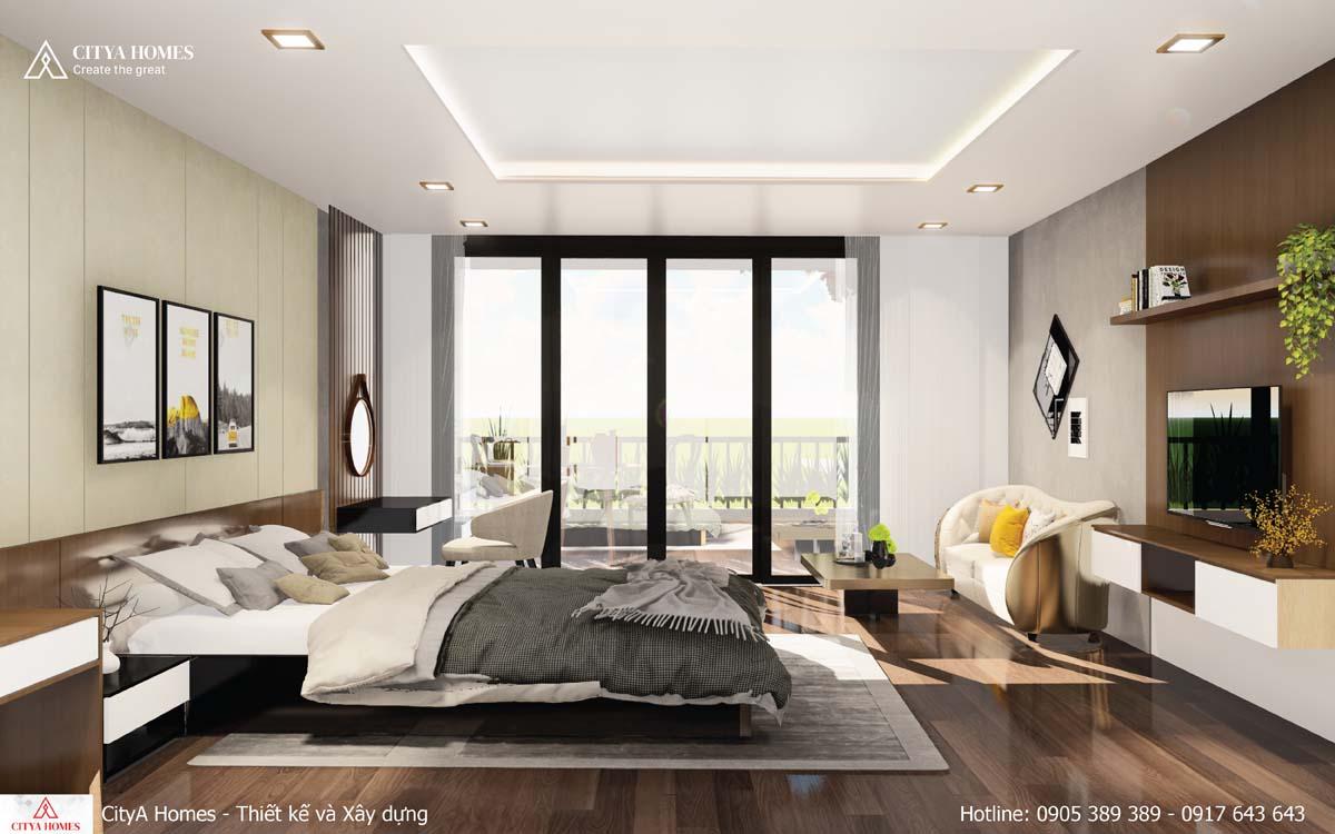 Phòng ngủ Master được ưu tiên lấy sáng và thoáng
