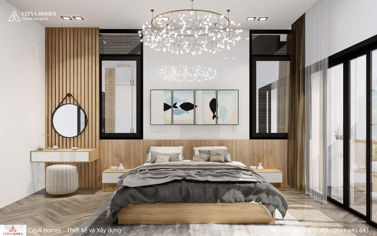 Phòng ngủ master sáng, tràn ngập sức sống